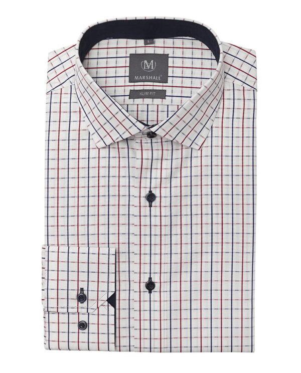 Slim fit strukirana muška košulja Magic